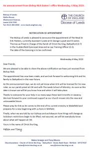 Parish Announcement